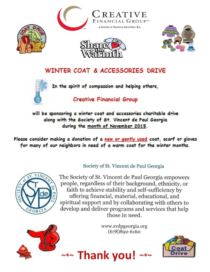 CFG Winter Coat  Accessories Drive - Nov 2015