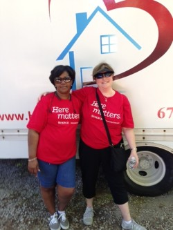 Yvette  and Jeanne Bottled Water Project HOME Walkathon